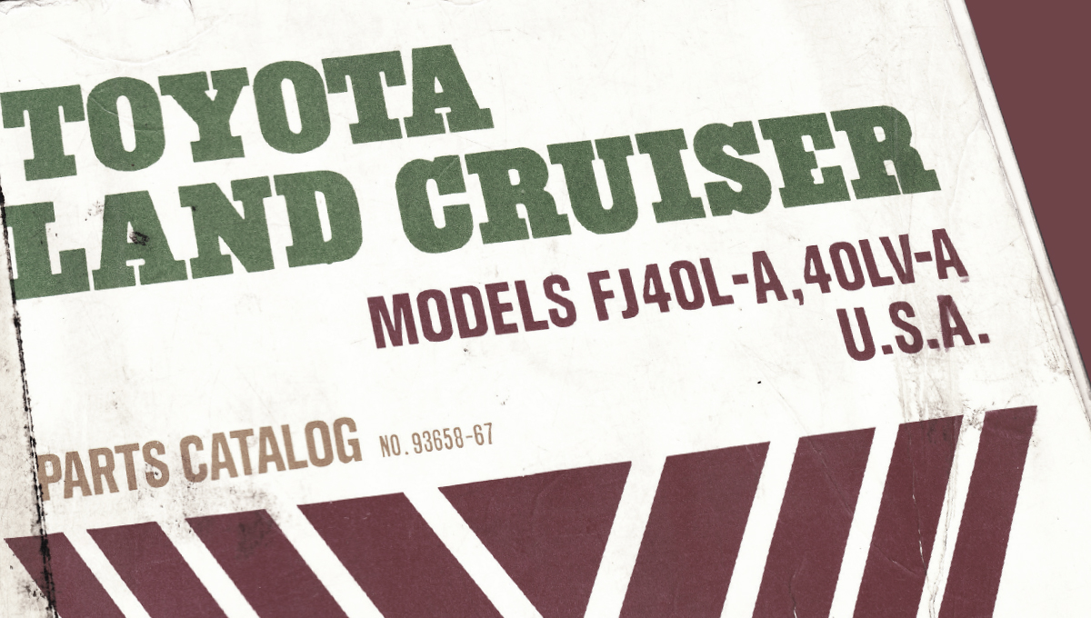 FJ40 Parts Catalog Index - The Old Cruiser